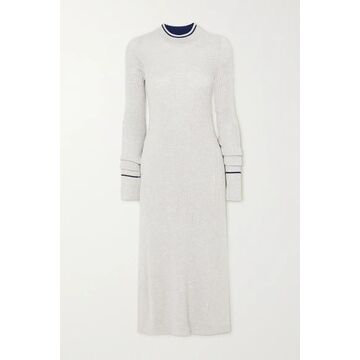 Maison Margiela - Ribbed Wool-blend Top - Gray
