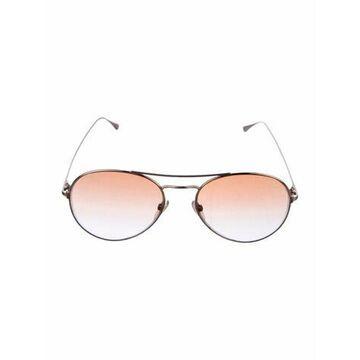 Gradient Aviator Sunglasses Gold