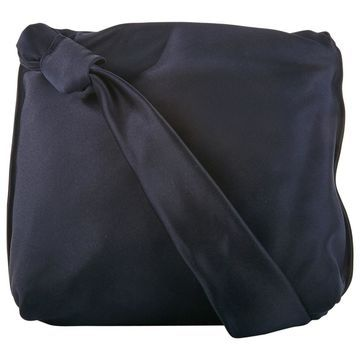 The Row Navy Silk Handbag