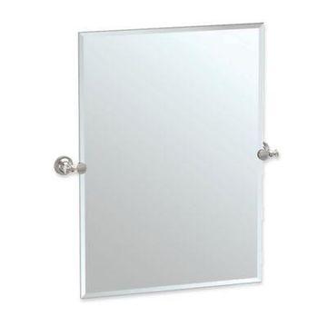 Gatco Tavern 31.5-Inch x 28-Inch Rectangular Frameless Mirror in Satin Nickel