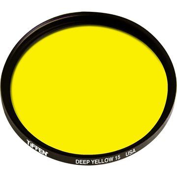 Tiffen 52mm #15 Glass Filter - Dark Yellow