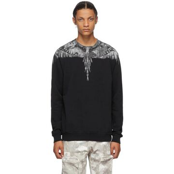 Marcelo Burlon County of Milan Black and Grey Camou Wings Sweatshirt