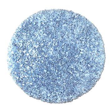 The Rug Market Shaggy Raggy 4 x 4 Shag Blue Round Solid Area Rug   02203R