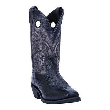 Laredo Men's Patton Cowboy Boot 68327 Black Full Grain Leather
