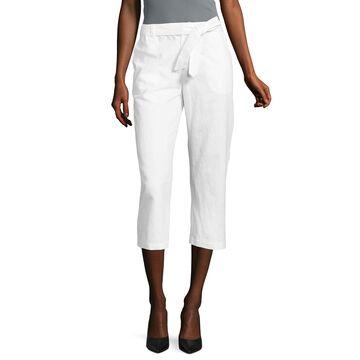 Liz Claiborne Linen Cropped Pants