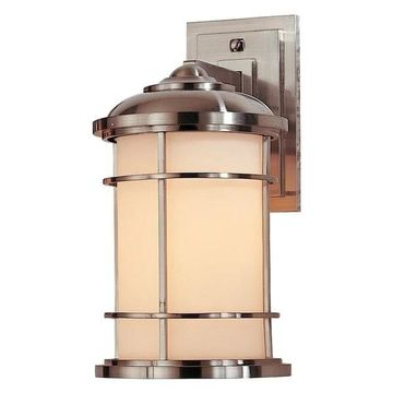 Feiss Lighthouse 1-Bulb Brushed Steel Outdoor