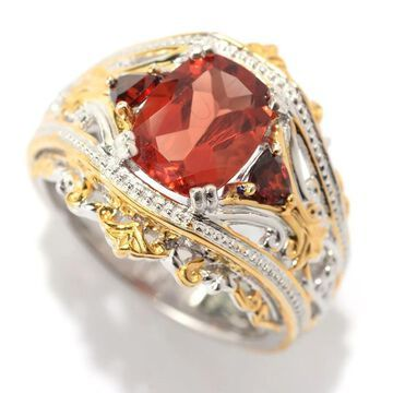 Michael Valitutti Andesine and Garnet Ring