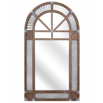 Imax Prairie Brown Arched Mirror