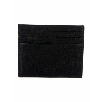 Leather Printed Wallet w/ Tags Black
