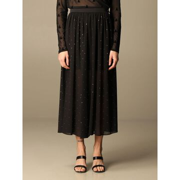 Patrizia Pepe long skirt with all-over rhinestones