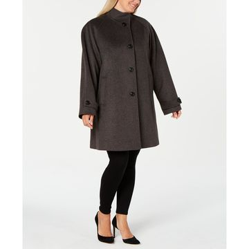 Plus Size Stand-Collar Coat