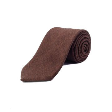 Ermenegildo Zegna Men's Wool Tie Brown - No Size