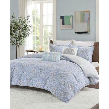 Design Bukhara Twin 2 Piece Reversible Cotton Duvet Cover Set
