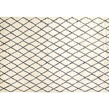 """6'x9'4"""" Nadia Hand-Knotted Rug - Parchment - Solo Rugs - Ivory"""