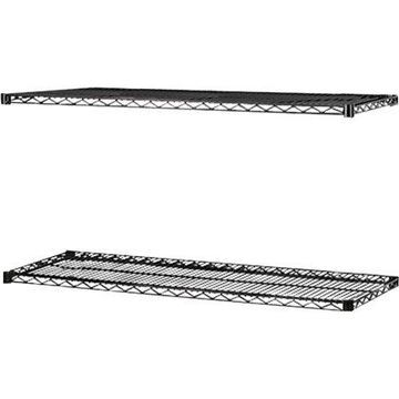 Lorell 2-Extra Shelves for Industrial Wire Shelving, Black