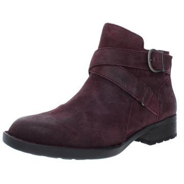 Born Womens Chaval Leather Ankle Booties