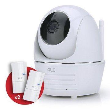 ALC 1080p Security System Pan&Tilt Wi-Fi Camera with built-in Siren and 2 Door Window Sensor