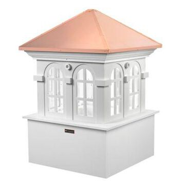 """Good Directions Smithsonian Collection Chesapeake 45"""" Cupola In White/copper"""