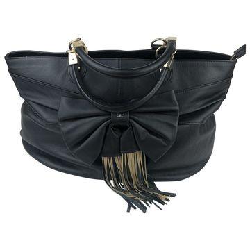 Elisabetta Franchi Black Leather Handbags