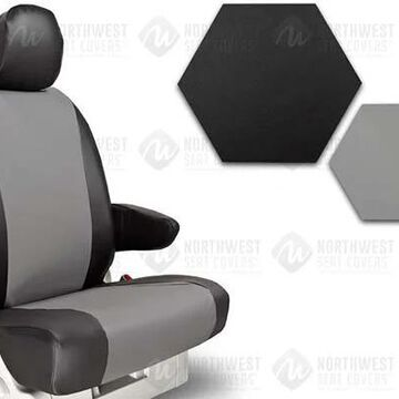 NorthWest WorkPro Hygienic Vinyl Seat Covers, 2nd-Row Seat Covers in Grey, B0