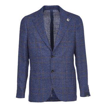 Lardini Blue Checks Jacket