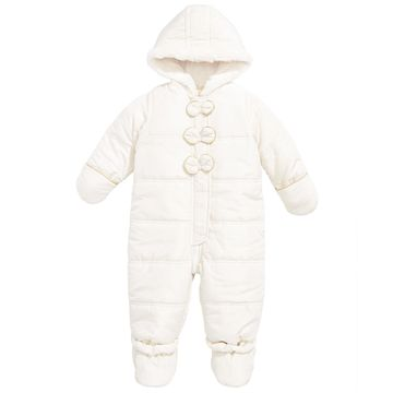 Baby Girls Bow Trim Snowsuit, Created for Macy's