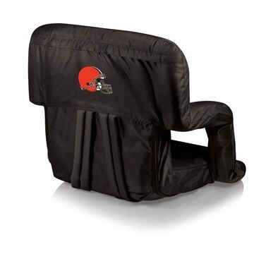 Picnic Time Cleveland Browns Black Folding Beach Chair Polyester
