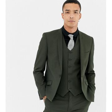 Heart & Dagger skinny suit jacket-Green