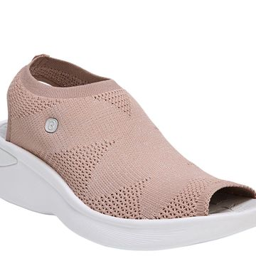BZees Slingback Wedge Sandals - Secret