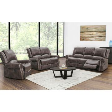 Abbyson Living Browning 3-Pc. Manual Reclining Living Room Set with Wh