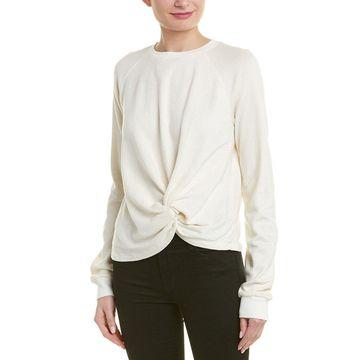Monrow Womens Twisted Sweatshirt