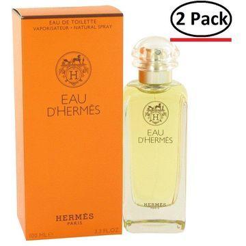 Eau D'Hermes by Hermes Eau De Toilette Spray 3.4 oz for Men (Package of 2)
