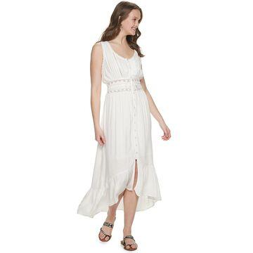 Juniors' American Rag Mixed Media White Maxi Dress