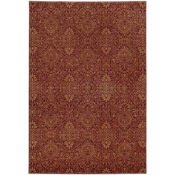 Style Haven Persian Gardens Red/Beige Indoor/Outdoor Area Rug (9'10 x 12'10) - 9'10