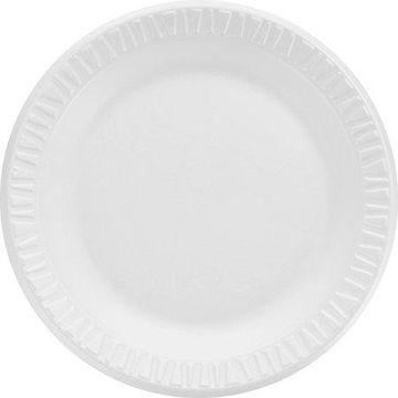 Dart, DCC7PWCR, Round Foam Dinnerware Plate, 1000 / Carton, White