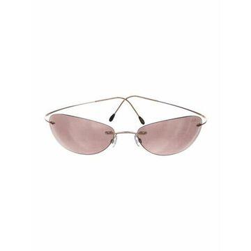 Cat-Eye Mirrored Sunglasses Gold