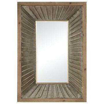 Pomeroy Rockefeller Wall Mirror, Brown, Gray