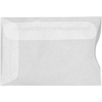 Credit Card Sleeves (2 1/4 x 3 1/2) - 24lb. Clear Translucent (500 Qty.)