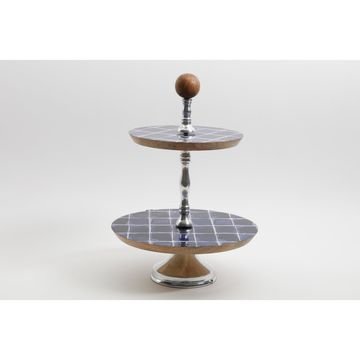 Mozambique Two-Tiered Cake Stand
