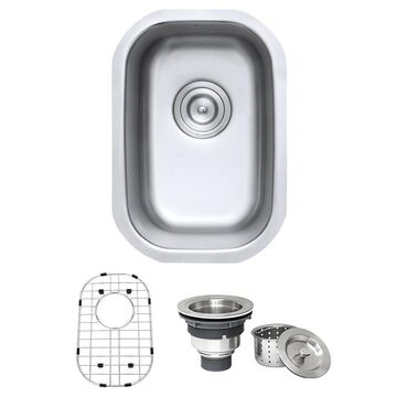 Ruvati Parmi Undermount 125-in x 18-in Brushed Stainless Steel Single Bowl Kitchen Sink