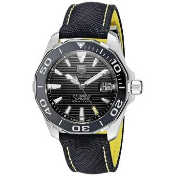 Tag Heuer Men's WAY211A.FC6362 'Aquaracer' Automatic Black Canvas and Leather Watch