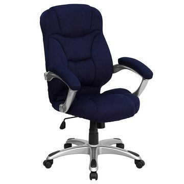 """Flash Furniture 41.5"""" - 45.2"""" Microfiber Office Chair In Navy"""