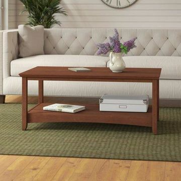 Bush Furniture Buena Vista Coffee Table in Serene Cherry