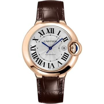Cartier Men's W6900651 'Ballon Bleu' Brown Leather Watch
