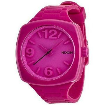 Nixon A265644 Womens Pink Silicone Band With Pink Analog Dial Genuine Watch NWT