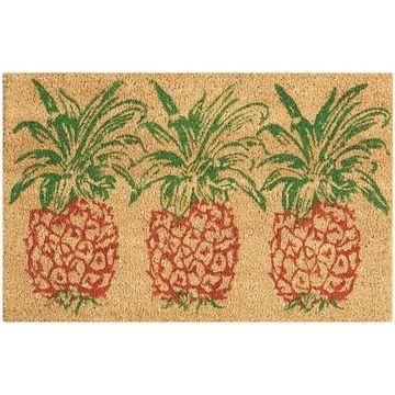 Waverly Greetings Pineapple Coir Doormat