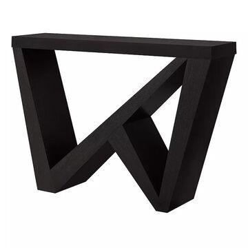 Monarch Geometric Console Table, Brown