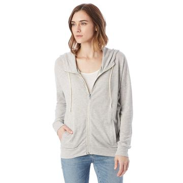 Alternative womens Cool Down Eco-Jersey Zip Hoodie (2896E1)