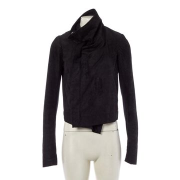 Rick Owens Black Leather Jackets