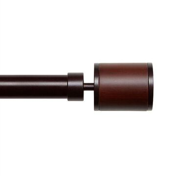"""Exclusive Home Rimini 1"""" Window Curtain Rod and Finial Set, Brown, 66-120"""